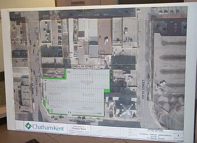 Parking Lot Plans with Chatham-Kent Logo