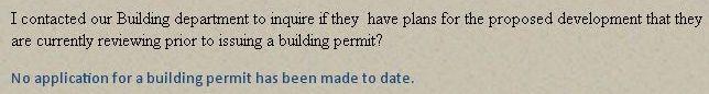 Municipality states no information exists